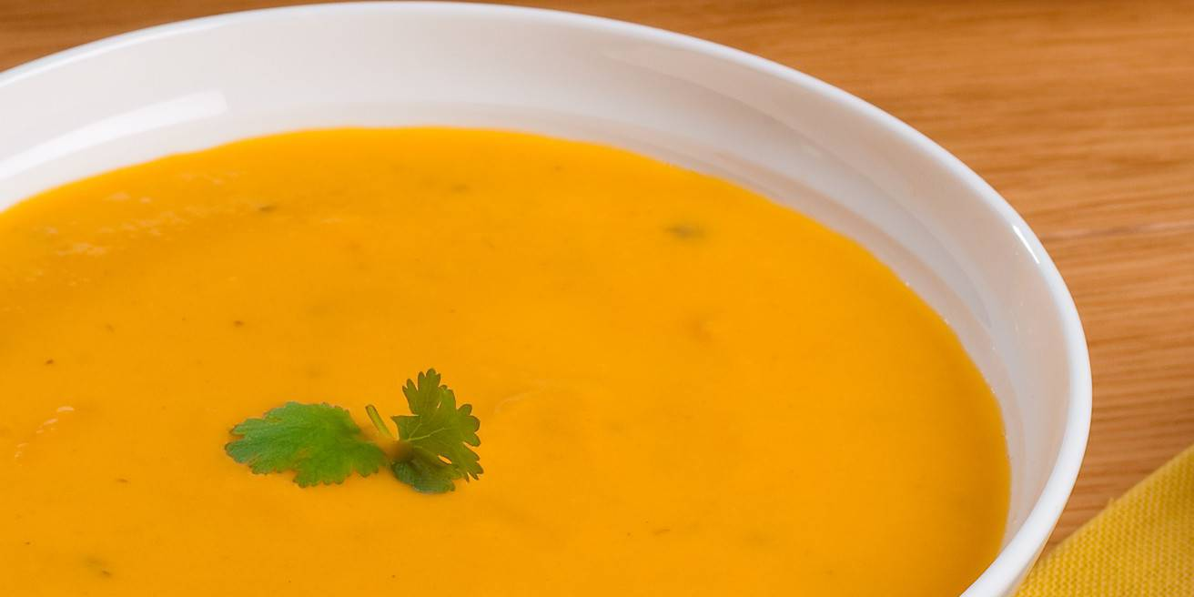 Creamy Carrot-Ginger Soup with Lime