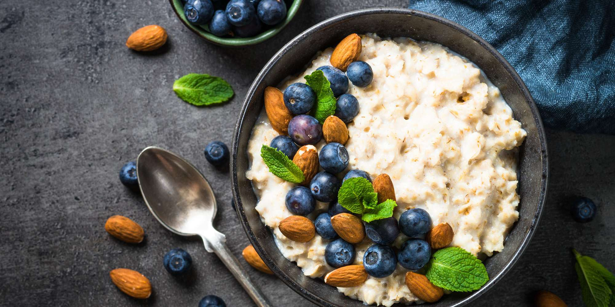 Simmered Blueberry Coconut Porridge