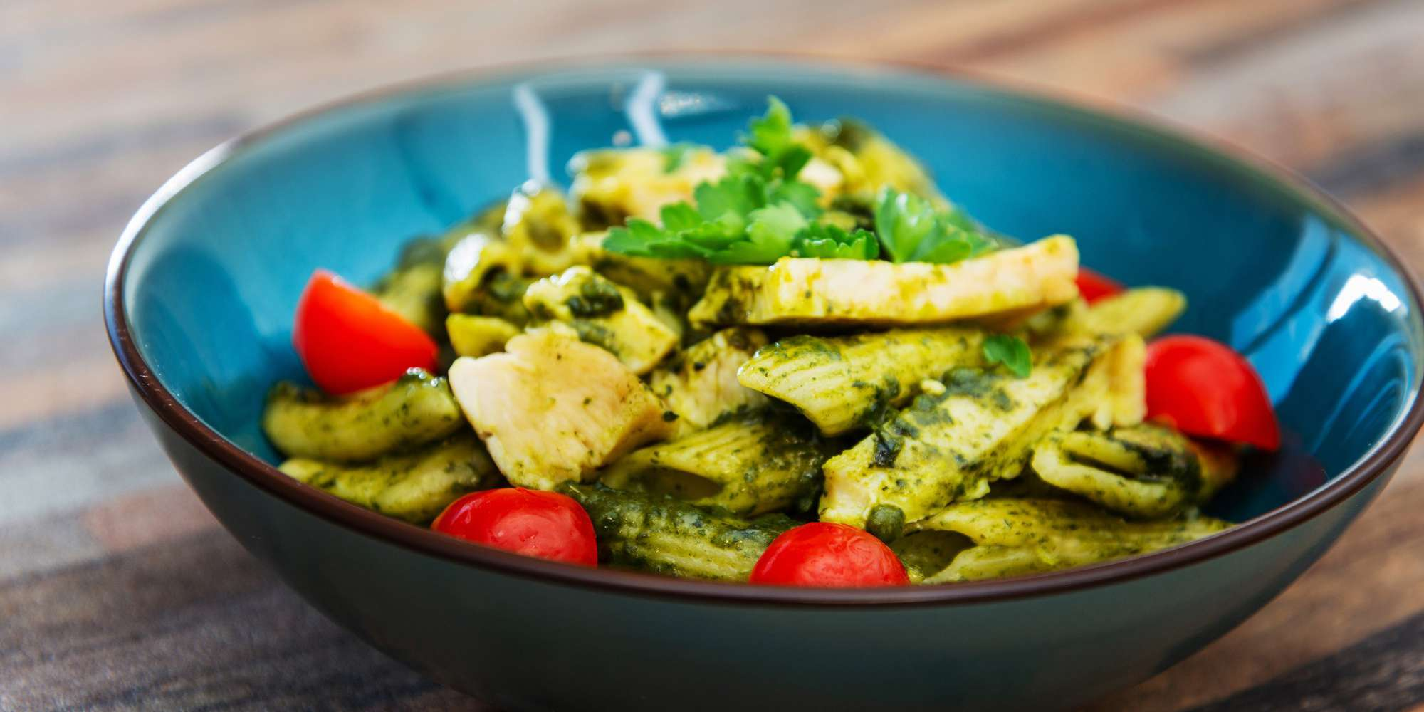 Warm Pesto Bowl with Chicken