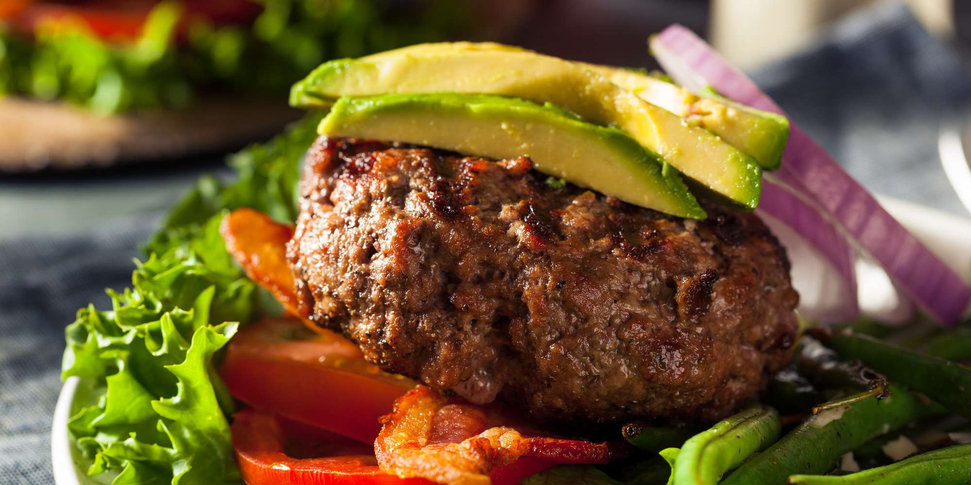 Lamb Burgers with Cucumber Guacamole