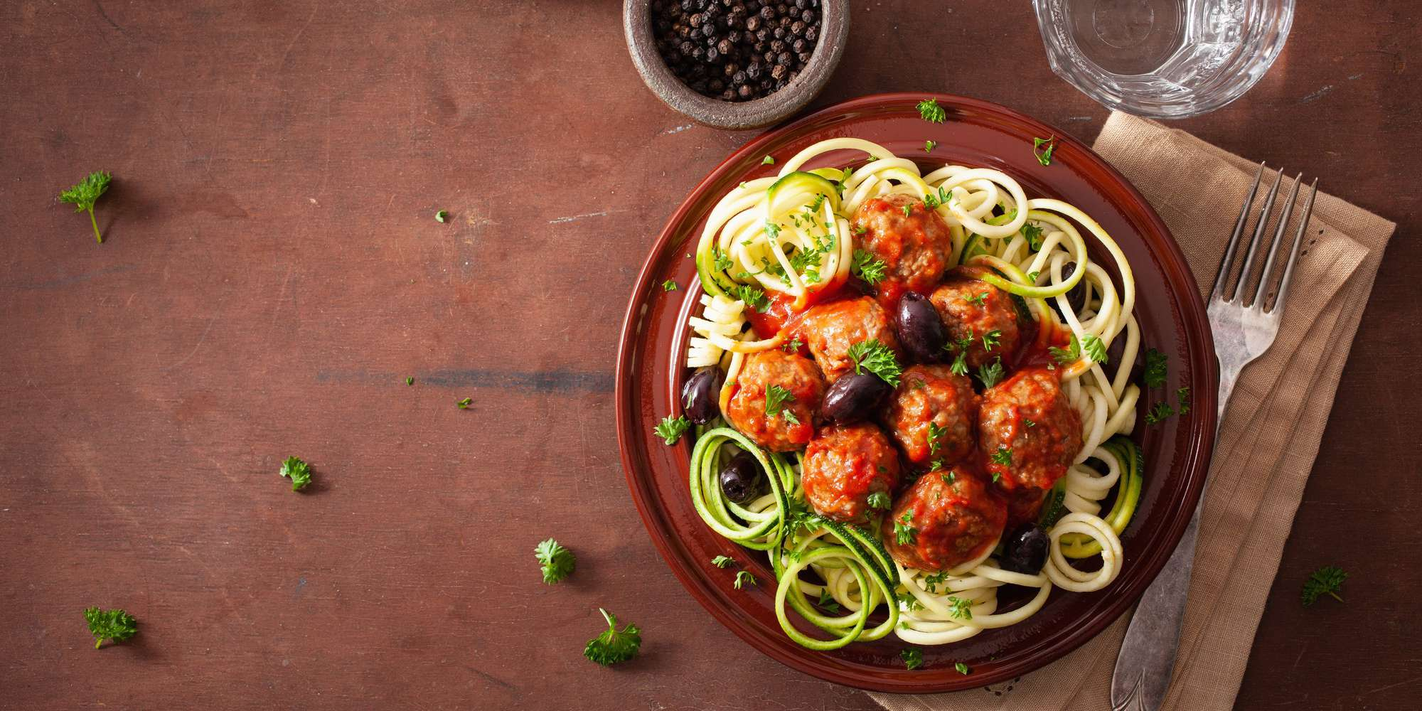 Zoodles and Turkey Meatballs