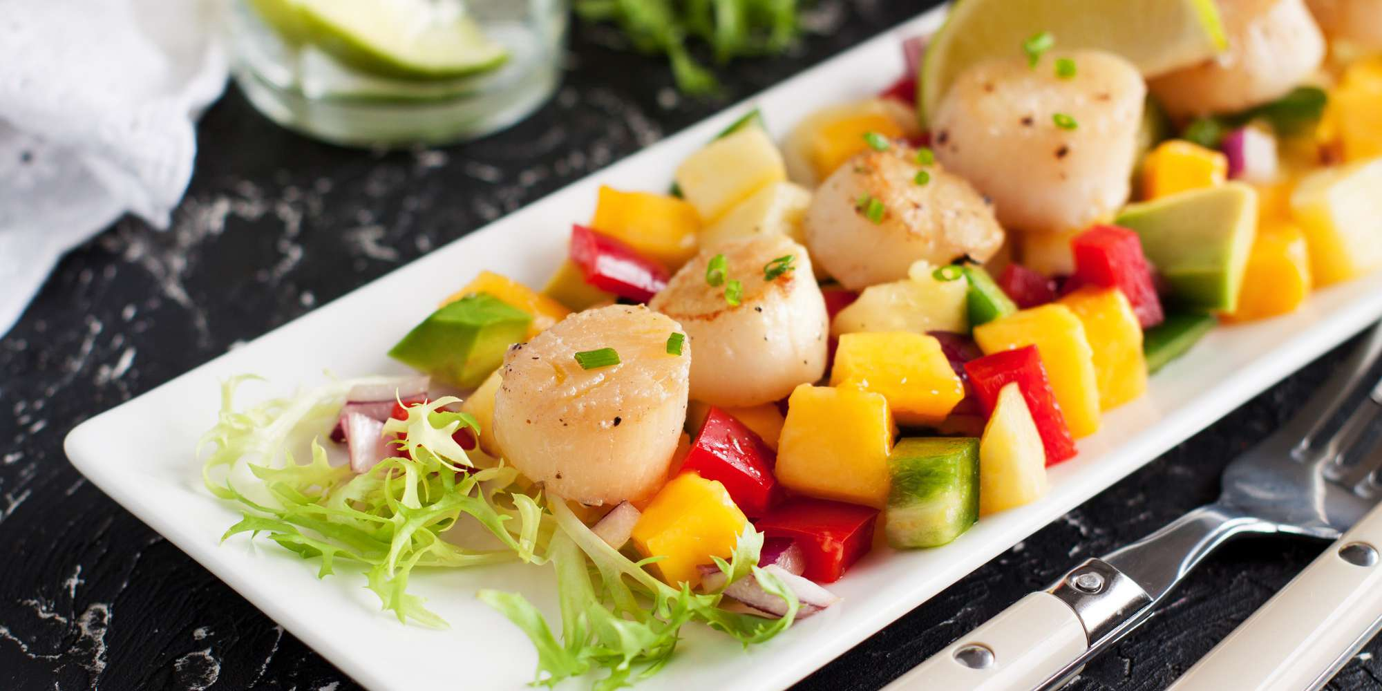 Caribbean Scallop Salad with Pineapple and Avocado