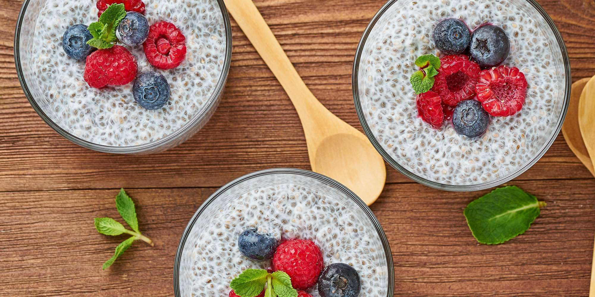 Overnight Chia Pudding + Berries