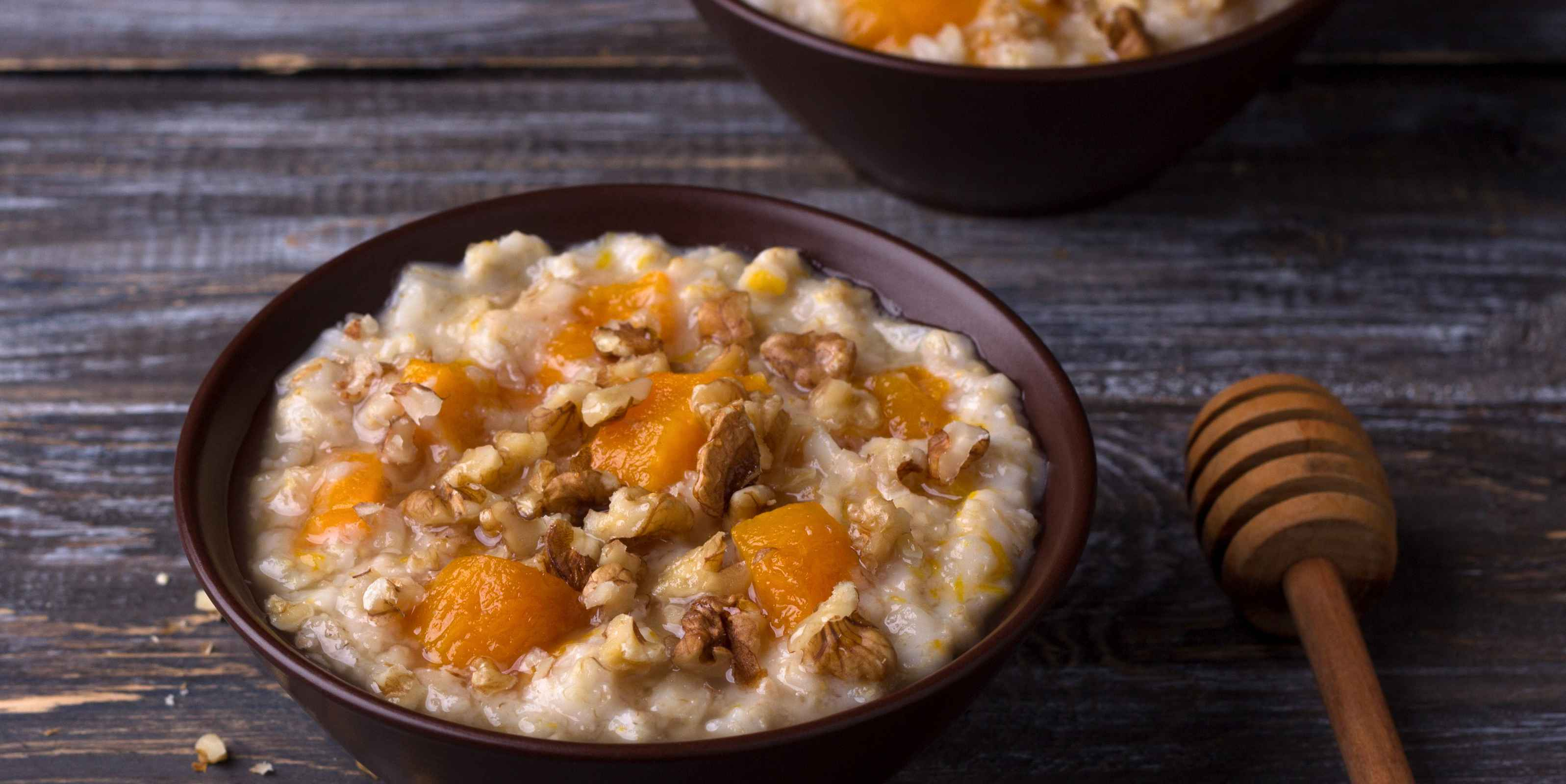 Golden Milk Oatmeal with Pepita Brittle