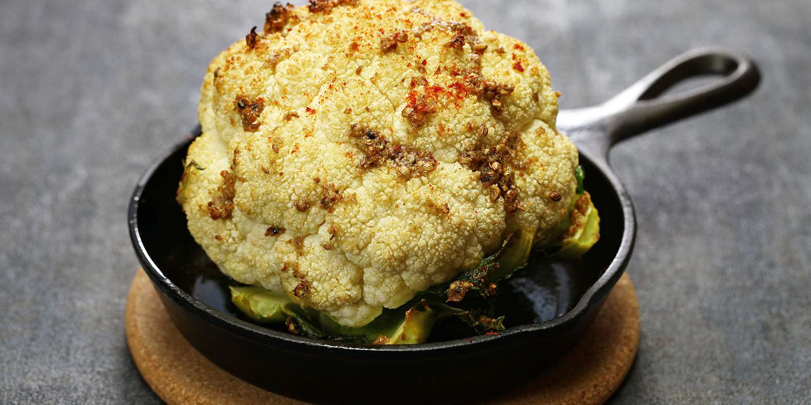 Honey Mustard Roasted Cauliflower with Herb Sauce