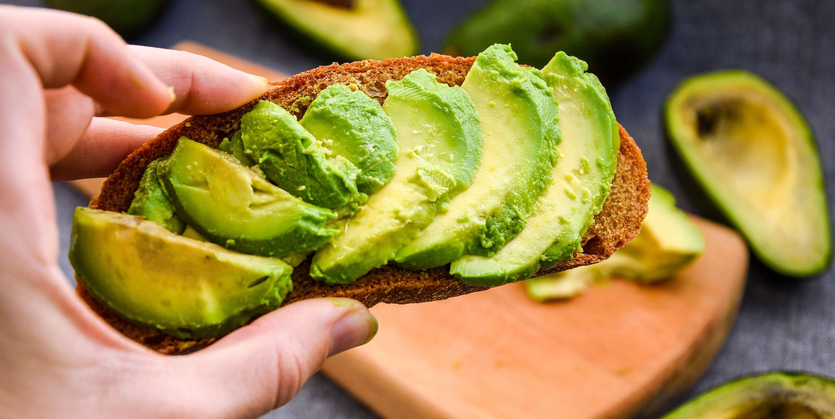 Toast With Refried Beans and Avocado