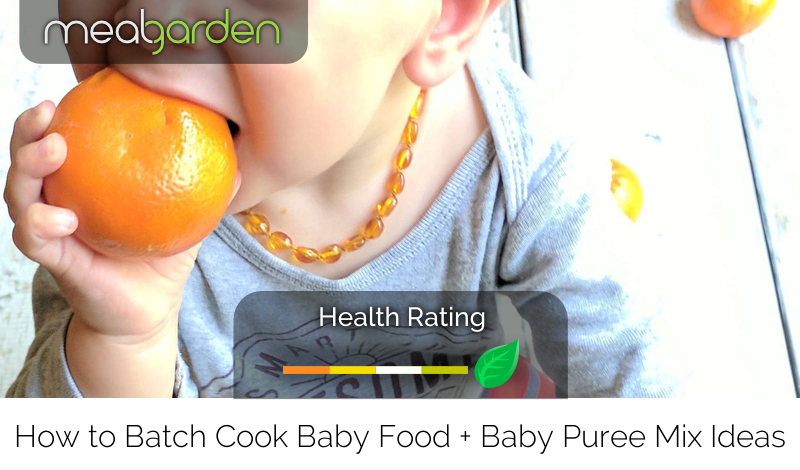 How to Batch Cook Baby Food + Baby Puree Mix Ideas